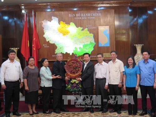 Đoàn đại biểu cấp cao Đảng Nhân dân Campuchia thăm, làm việc tại tỉnh Bắc Ninh  - ảnh 1