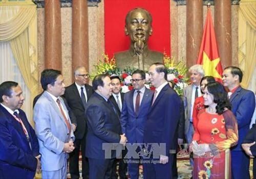 Chủ tịch nước Trần Đại Quang tiếp đoàn đại biểu các Hội Chữ thập đỏ - Trăng lưỡi liềm đỏ quốc tế - ảnh 1
