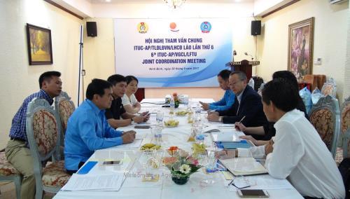 Tham vấn chung giữa tổ chức công đoàn quốc tế khu vực châu Á-Thái Bình Dương và Việt Nam, Lào  - ảnh 1