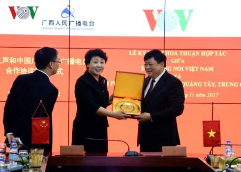Lãnh đạo Đài Tiếng nói Việt Nam tiếp đoàn đại biểu văn hóa, báo chí Quảng Tây (Trung Quốc) - ảnh 6