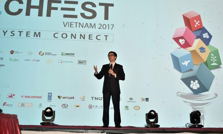 Khai mạc Ngày hội khởi nghiệp đổi mới sáng tạo Việt Nam 2017 - ảnh 1