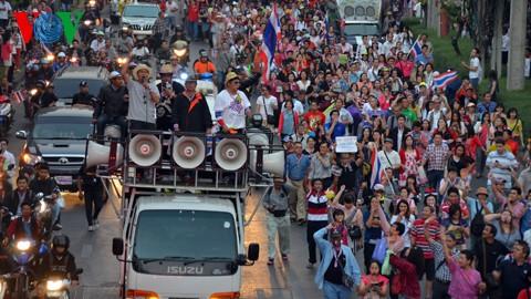 กปปส.ชุมนุมประท้วงต่อไปก่อนการเลือกตั้งวันที่ 2 กุมภาพันธ์ - ảnh 1