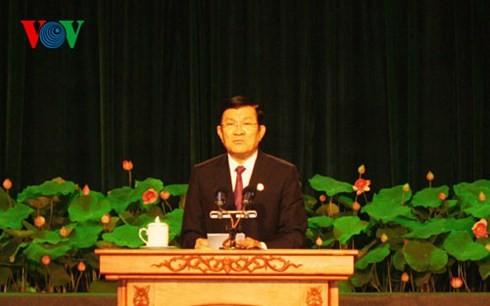 ท่านเจืองเติ๊นซางเข้าร่วมการประชุมใหญ่การแข่งขันรักชาติของนครโฮจิมินห์ - ảnh 1