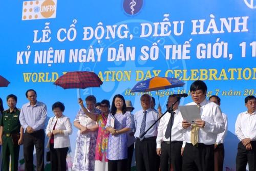 ชุมนุมรำลึกวันประชากรโลก 11 กรกฎาคม - ảnh 1