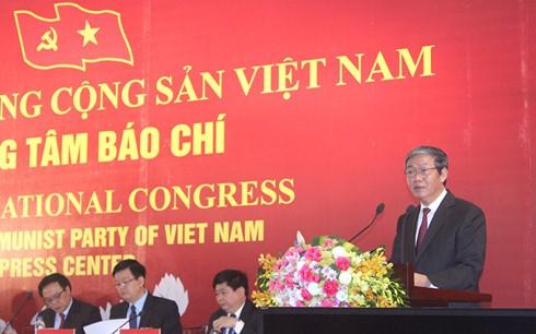 การแถลงข่าวต่อสื่อมวลชนเกี่ยวกับการประชุมสมัชชาใหญ่พรรคคอมมิวนิสต์เวียดนามสมัยที่ 12 - ảnh 1
