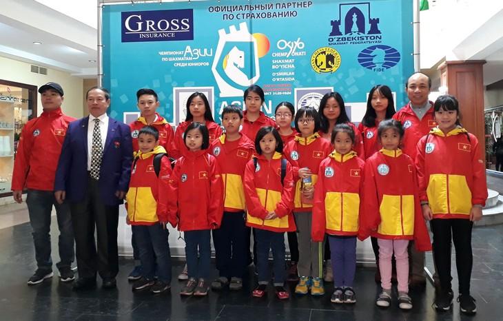เวียดนามคว้าเหรียญทองหมากรุกสากลชิงแชมป์เอเชียระดับเยาวชน - ảnh 1