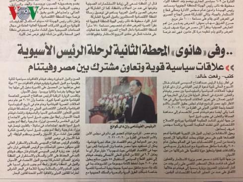 สื่ออียิปต์ชื่นชมประสบการณ์ในการพัฒนาของเวียดนาม - ảnh 1