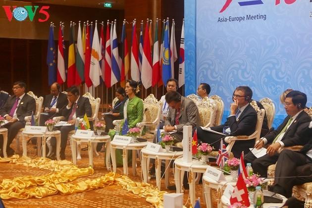 รัฐมนตรีต่างประเทศอาเซมเห็นพ้องขยายความสัมพันธ์หุ้นส่วนเพื่อสันติภาพและการพัฒนาอย่างยั่งยืน - ảnh 1