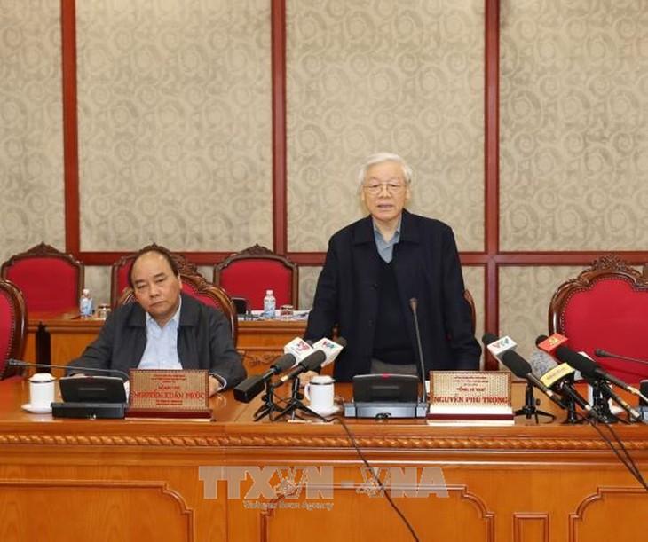 การประชุมของกรมการเมืองพรรคเกี่ยวกับการตรวจสอบงานด้านบุคลากร - ảnh 1