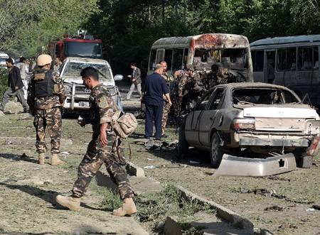 เหตุระเบิดใกล้สถานทูตสหรัฐประจำอัฟกานิสถาน  - ảnh 1