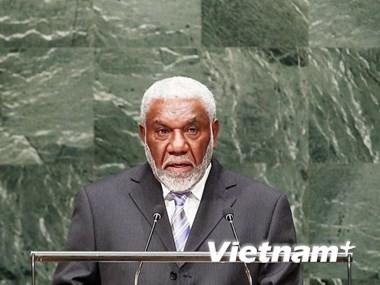 Chủ tịch nước Trương Tấn Sang tiếp Thủ tướng Cộng hòa Vanuatu Joe Natuman  - ảnh 1