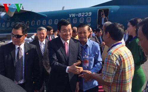 Chủ tịch nước Trương Tấn Sang dự lễ khánh thành sân bay Attapeu - ảnh 1