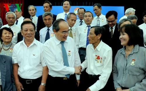 Ủy ban TƯ MTTQ VN gặp mặt nguyên cán bộ, chiến sĩ Ban Trí vận - Mặt trận Khu ủy Sài Gòn - Gia Định - ảnh 1