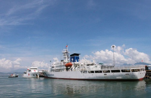 Tàu huấn luyện Nhật Bản thăm hữu nghị Việt Nam  - ảnh 1