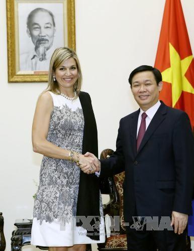 Phó Thủ tướng Vương Đình Huệ tiếp Hoàng hậu Hà Lan Maxima - ảnh 1
