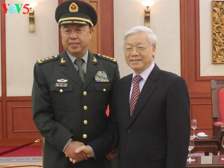 Tổng Bí thư Nguyễn Phú Trọng tiếp Phó Chủ tịch Quân ủy Trung ương Trung Quốc Phạm Trường Long - ảnh 1