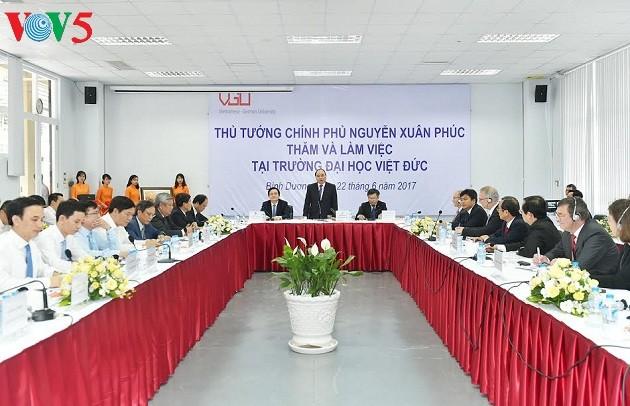 Thủ tướng Nguyễn Xuân Phúc gợi ý mục tiêu phát triển mới cho Trường Đại học Việt Đức - ảnh 1