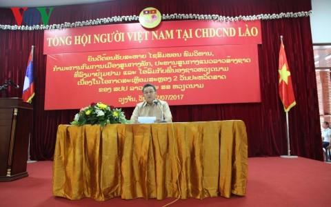 Chủ tịch Mặt trận Lào xây dựng đất nước nói chuyện với bà con Việt kiều - ảnh 1