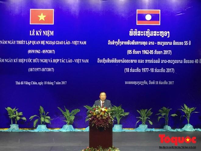55 năm ngày thiết lập quan hệ ngoại giao và 40 năm ngày ký Hiệp ước hữu nghị và hợp tác Việt-Lào - ảnh 2