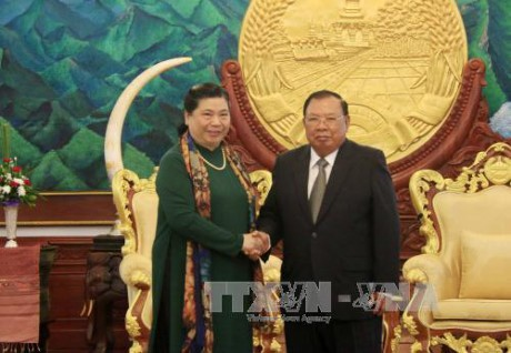 55 năm ngày thiết lập quan hệ ngoại giao và 40 năm ngày ký Hiệp ước hữu nghị và hợp tác Việt-Lào - ảnh 1