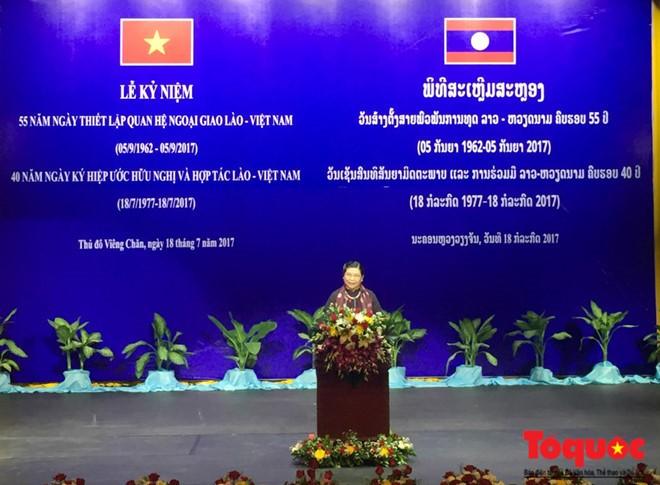 55 năm ngày thiết lập quan hệ ngoại giao và 40 năm ngày ký Hiệp ước hữu nghị và hợp tác Việt-Lào - ảnh 3