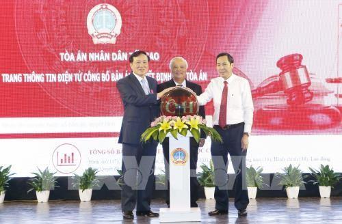 Khai trương Trang thông tin điện tử công bố bản án, quyết định của Tòa án - ảnh 1