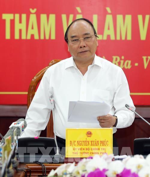 Thủ tướng Nguyễn Xuân Phúc làm việc với lãnh đạo chủ chốt tỉnh Bà Rịa-Vũng Tàu - ảnh 1
