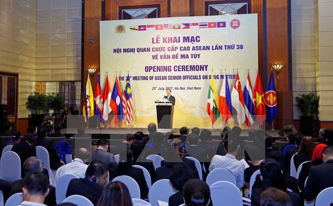 Khai mạc Hội nghị quan chức cấp cao ASEAN lần thứ 38 về phòng chống tội phạm ma túy - ảnh 1