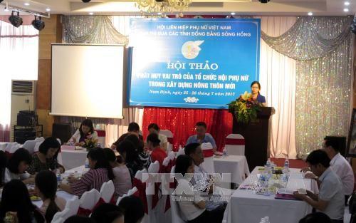 Phát huy vai trò của tổ chức hội phụ nữ trong xây dựng nông thôn mới - ảnh 1