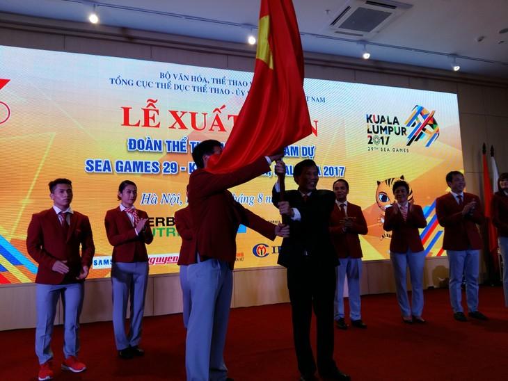 Lễ xuất quân của Đoàn thể thao Việt Nam tham dự Sea Games 29 - ảnh 2