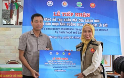 Tỉnh Sơn La tiếp nhận hàng cứu trợ dân vùng lũ của ASEAN - ảnh 1