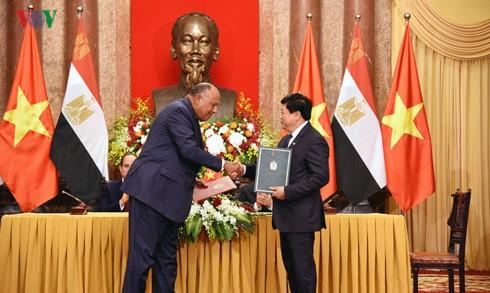 VOV ký thỏa thuận hợp tác với Đài Phát thanh Quốc gia Ai Cập - ảnh 1