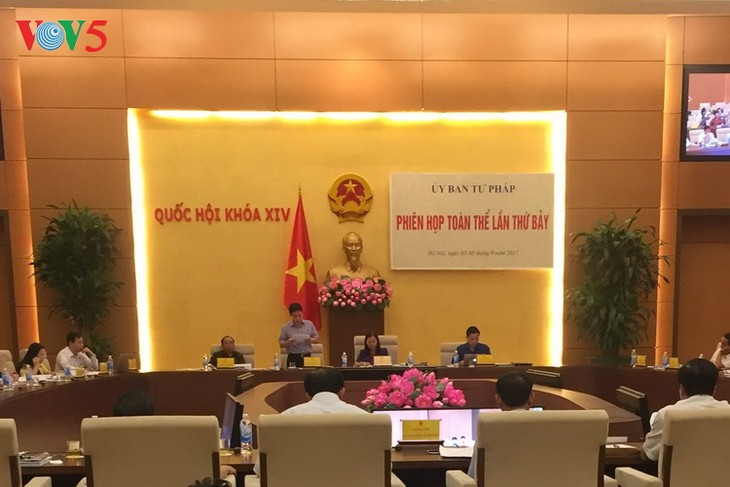 Tiếp tục phiên họp toàn thể lần thứ bảy Ủy ban Tư pháp của Quốc hội - ảnh 1