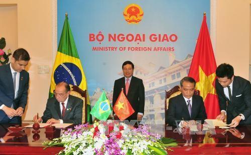 Hội đàm Bộ trưởng Ngoại giao hai nước Việt Nam và Brazil - ảnh 1