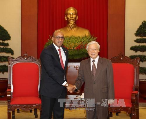 Tổng Bí thư Nguyễn Phú Trọng tiếp Đại sứ Cuba Herminio López Diazt - ảnh 1