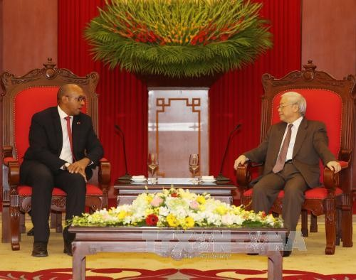 Tổng Bí thư Nguyễn Phú Trọng tiếp Đại sứ Cuba Herminio López Diazt - ảnh 2