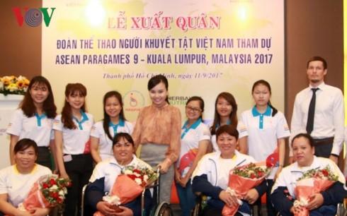 Đoàn thể thao người khuyết tật Việt Nam xuất quân tham dự Para Games 9 - ảnh 1