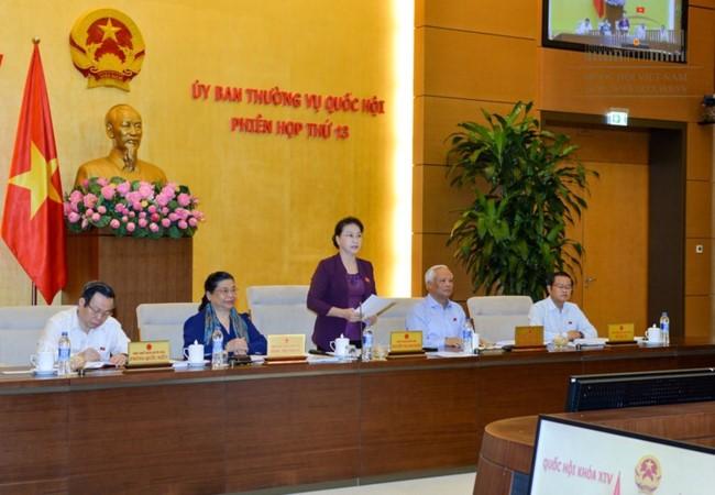Khai mạc phiên họp thứ 14 Ủy ban Thường vụ Quốc hội - ảnh 1