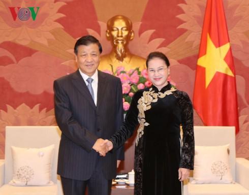 Chủ tịch Quốc hội Nguyễn Thị Kim Ngân tiếp Ủy viên Thường vụ Bộ Chính trị Trung Quốc Lưu Vân Sơn - ảnh 1