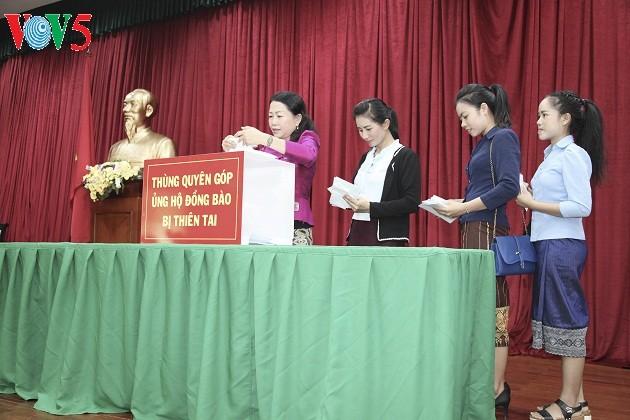 Cộng đồng người Việt Nam tại Lào đóng góp ủng hộ đồng bào bị ảnh hưởng bởi thiên tai - ảnh 1