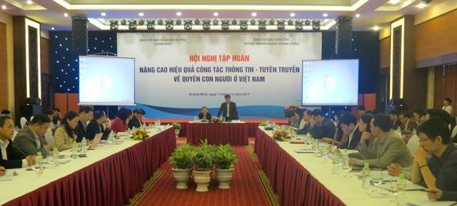 """Hội nghị tập huấn """"Nâng cao hiệu quả công tác thông tin, tuyên tuyền về quyền con người ở VN"""" - ảnh 1"""