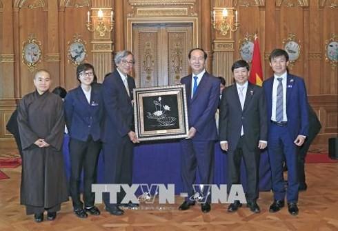 Chủ tịch nước Trần Đại Quang kết thúc tốt đẹp chuyến thăm cấp Nhà nước tới Nhật Bản - ảnh 1