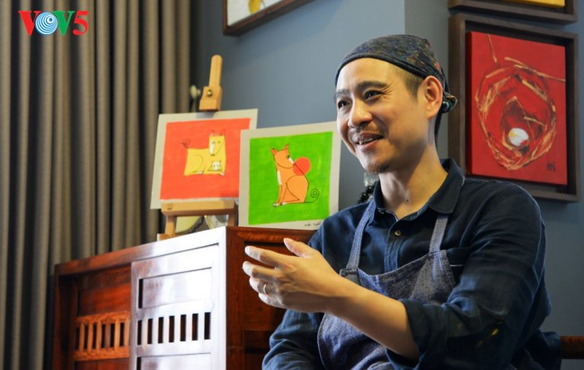 Painter Pham Ha Hai, author of Lunar New Year stamp collection  - ảnh 2