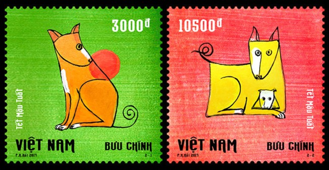 Painter Pham Ha Hai, author of Lunar New Year stamp collection  - ảnh 1