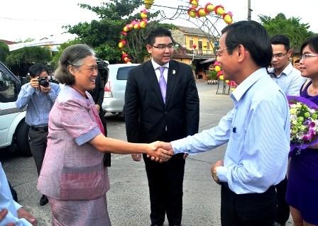 Công chúa Thái Lan Maha Chakri Siridhom thăm và làm việc tại Quảng Nam  - ảnh 1