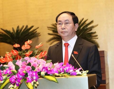 Chủ tịch nước Trần Đại Quang thăm và làm việc tại Ninh Bình  - ảnh 1