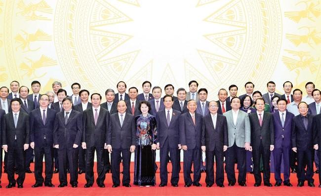 Gặp mặt các thành viên chính phủ nhiệm kỳ khoá 12, 13 - ảnh 1