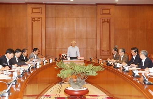 TBT Nguyễn Phú Trọng chủ trì cuộc họp Ban Chỉ đạo Trung ương phòng chống tham nhũng - ảnh 1