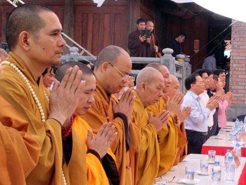 Đại lễ cầu siêu tưởng niệm các anh hùng liệt sỹ tại chùa Phật tích Trúc Lâm Bản Giốc, tỉnh Cao Bằng - ảnh 1