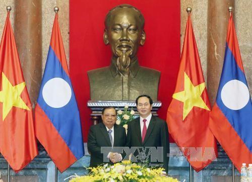Chủ tịch nước Trần Đại Quang hội kiến Tổng Bí thư, Chủ tịch nước Lào Bounnhang Volachith - ảnh 1